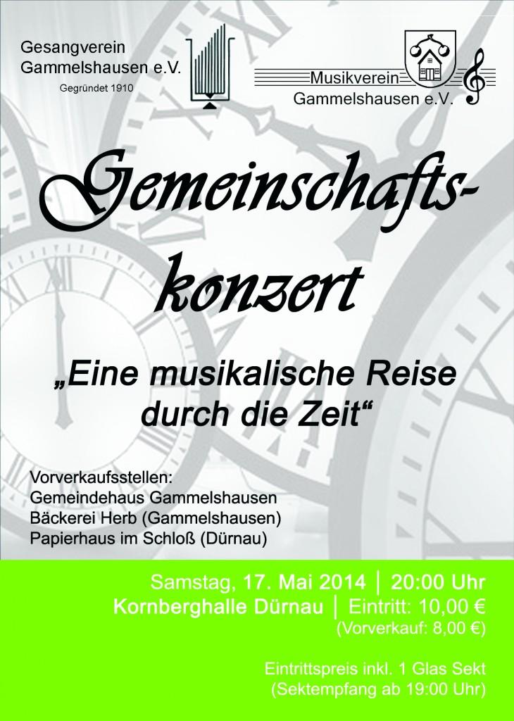Flyer Konzert Mai 2014
